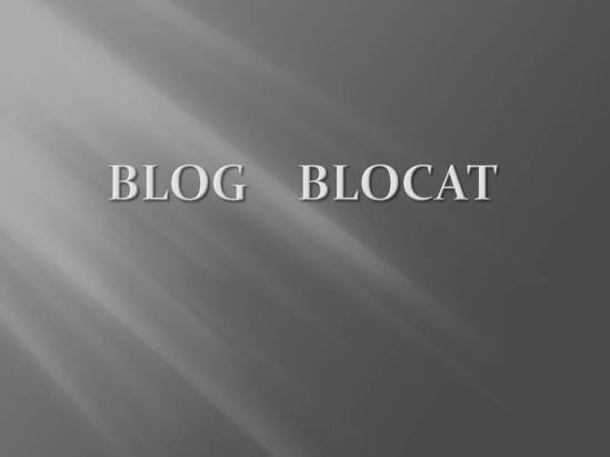 BLOG BLOCAT