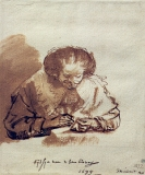 a portret of TITIAvan UYLENDBURG by Rembrandt